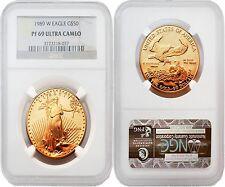 USA 1989W Eagle $50 1 oz Gold NGC PF69 ULTRA CAMEO