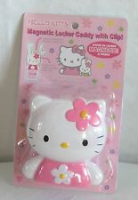 Hello Kitty JAPAN Magnetic Locker Refrigerator Caddy with Clip Pink NIP 2003