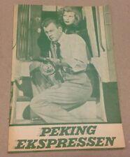 """""""Peking Express"""" Joseph Cotten Corinne Calvet Danish Original Vtg Movie Program"""