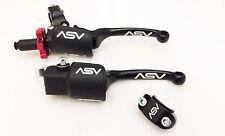 ASV F3 Holiday Pro Pack Adjustable Brake + Clutch Lever Yamaha YFZ450R Black