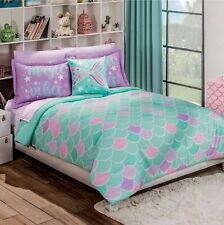 Mermaid Comforter Reversible Teens Girls FULL Juniors Decoration Turquoise Stars