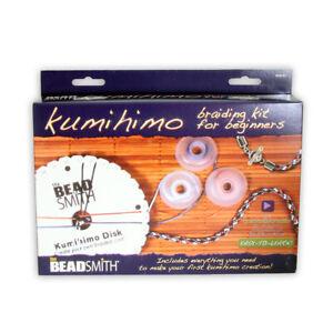 BeadSmith® Kumihimo Starter-Kit für Anfänger ein Rundes Geflecht Schaffen