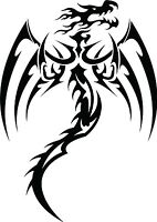 Dragon Tribal Dragons Car Decal Window Sticker TRB014