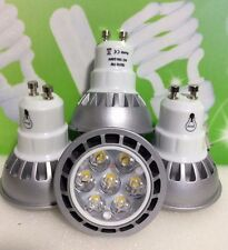 LED SPOT LIGHT BULB 7W=65W GU10,FOUR PIECES,BARGAIN £13.49,COOL DAYLIGHT,WOW