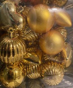 IKEA KALLT Baumkugeln Kunststoff gold