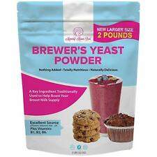 Brewers Yeast Powder for Lactation - Mild Nutty Flavored Unsweetened - 2 lb