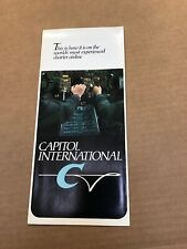 Capitol International Airline Brochure Vintage