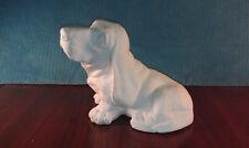 Ceramic Bisque Bassett Hound Ready to Paint Statuette Dog Mini Statue Home Decor