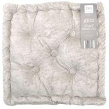 Silver Crushed Velvet Seat Pad Box Cushion