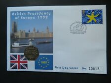 More details for 1992 50p coin cover british presidency of europe
