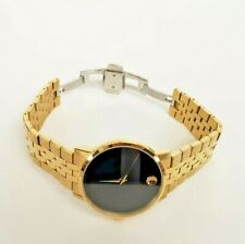 Movado Men's Swiss Museum Classic Gold-Tone PVD Stainless Steel Bracelet, 060720