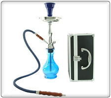"18"" 1 Hose Junior Hookah with Case BLUE"