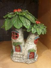Light Up Poinsettia Fairy House
