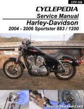Harley-Davidson XL883 XL1200 Sportster 2004-2006 Cyclepedia Printed Motorcycl...