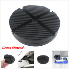 Cross Slotted Frame Rail Floor Jack Disk Rubber Pad for Pinch Weld Side JackPad (Fits: Daewoo)