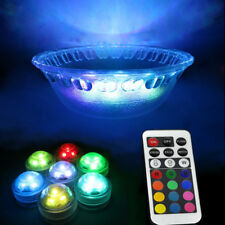 SUBMERSIBLE BATTERY OPERATED 10PCS RGB LED TEA LIGHT FLORAL VASE WEDDING CANDLE