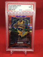 2019-20 Panini Ruby Wave Prizm #8 Kobe Bryant Lakers HOF PSA 9 MINT