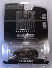 BLACK 1970 FORD BRONCO GREENLIGHT COLLECTIBLES 1:64 SCALE DIECAST METAL CAR