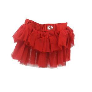 Kansas City Chiefs Official NFL Baby Infant Girls Size Tutu Skirt Bottoms New
