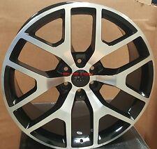 "22"" Sierra Style Rims Black Wheels GMC Yukon Denali Tahoe SIlverado Denali 24 26"