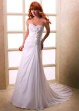 Ivory Elegant Chiffon Wedding Dresses Size 16 UK seller