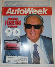 Autoweek Magazine Enzo Ferrari Turns 90 March 1988 122314R2