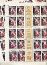 CCCP URSS 9 Feuilles Sheets 20TP 2 k  Art Plastique Ukraine Katérina 1979