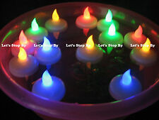 24 Flameless Floating LED tealight Candle Battery operated  - 8 color available