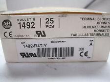 New Box Of 22 Allen Bradley 1492-R4T-Y Terminal Blocks 1492R4Ty
