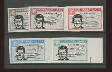 Guernsey SARK 1966 Kennedy planes IMPERFORATE PROOF set 5