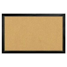 "22"" x 35"" black frame Cork bulletin Board hides pin holes HOME DECOR Brand new"