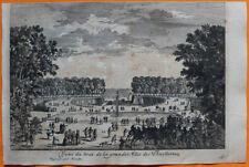 VAN DER AA Gravure originale c1725 BOUT DE L'ALLÉE DES TUILERIES Paris Concorde