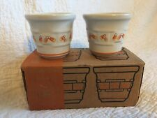 Longaberger Candy Corn votive set Pottery Fall Nla with box