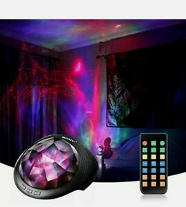 SOAIY Aurora Night Light Projector, Sleeping Soothing White Noise Sound Machine