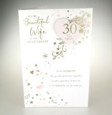 For My Beautiful Wife on Our Anniversary. 30 Years 30th Pearl Anniversary Card