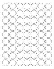 """6 SHEETS 1"""" BLANK CLEAR MATTE STICKERS LASER  LABELS ~ 8-1/2""""x11"""" Sheets"""