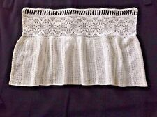 Vintage Handmade Crochet Ivory Lace VALANCE Curtain Cottage Chic Window/Door