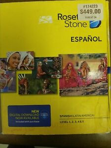 NIB Rosetta Stone Spanish/Espanol (Latin America)  - Level 1, 2 , 3 ,4 , 5. New