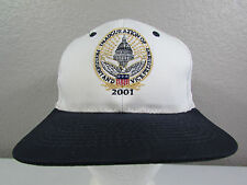 2001 George W. Bush Presidential Inauguration Adjustable Snapback White Hat Cap