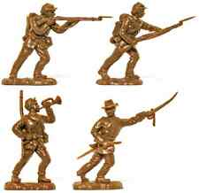 25 Britains Herald Civil War Confederate Inf Recasts - Unpainted Toy Soldiers