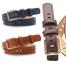Men Solid Colour Belt Buckles Leather Belts Women Waist Belt Simple Belt Bla3C