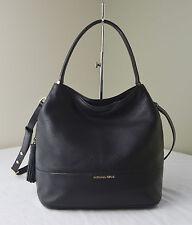 Michael Kors Black Kip Large Bucket Shoulder Bag