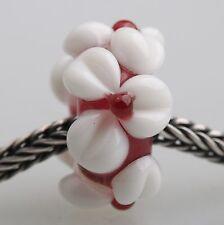 1pcs Big Flowers MURANO GLASS BEAD LAMPWORK Fit European Charm Bracelet QH023