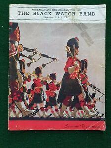 Souvenir Programme THE BLACK WATCH BAND Australian & New Zealand tour 1951
