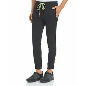 Iceberg Jogger Pants W/Neon Stripe and Logo 80059086B130 Black-Size Large