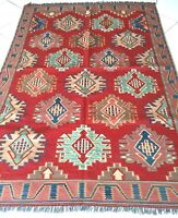 Kelim Teppich Afghan Uzbeki Nomaden Orient Handgewebte Rug Carpet Tapis Alfombra