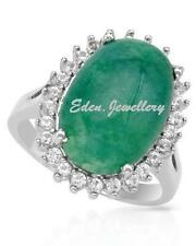 US$840 Stunning Ring with 8.90ctw Treated Emerald & Sapphire 925 Sterling Silver