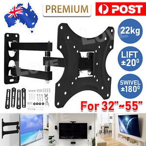 "Corner TV Wall Mount Bracket Tilt Swivel 32 37 40 43 48 50 52 55"" Plasma LCD LED"
