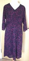 Laura Ashley Dress 18 Silk Blend Leopard Print New Work Occasion Smart Plus