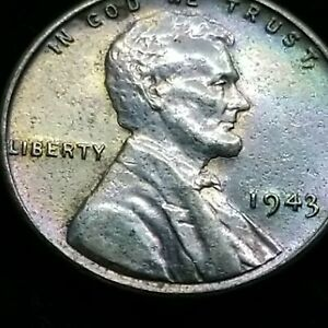 Absolute Stunning 1943 Steel Lincoln Wartime Small Cent Penny